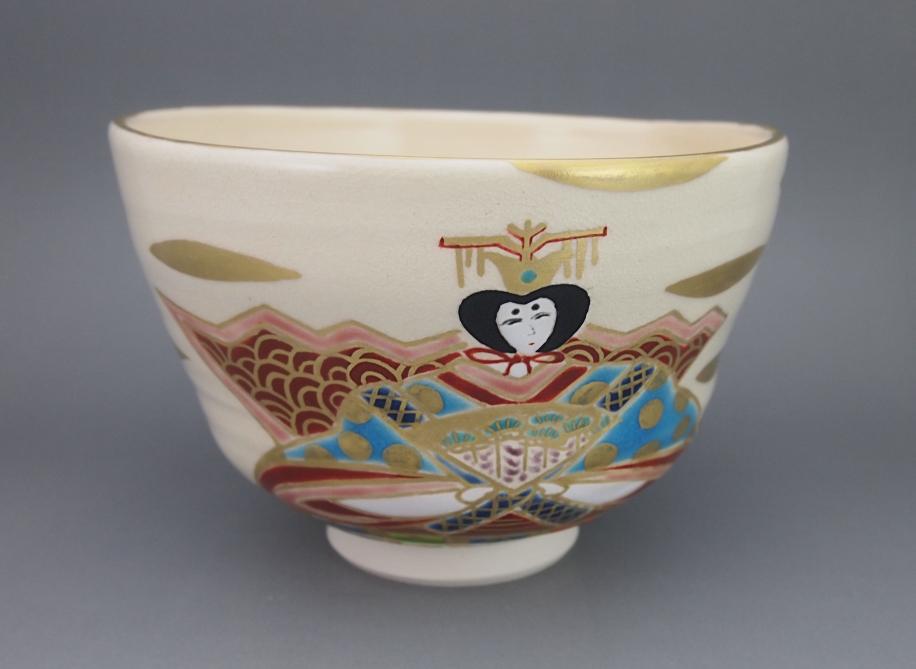 色絵 お雛さん 茶碗
