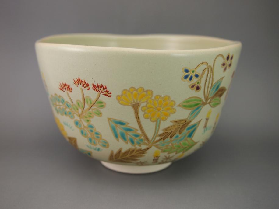 色絵 春草 茶碗