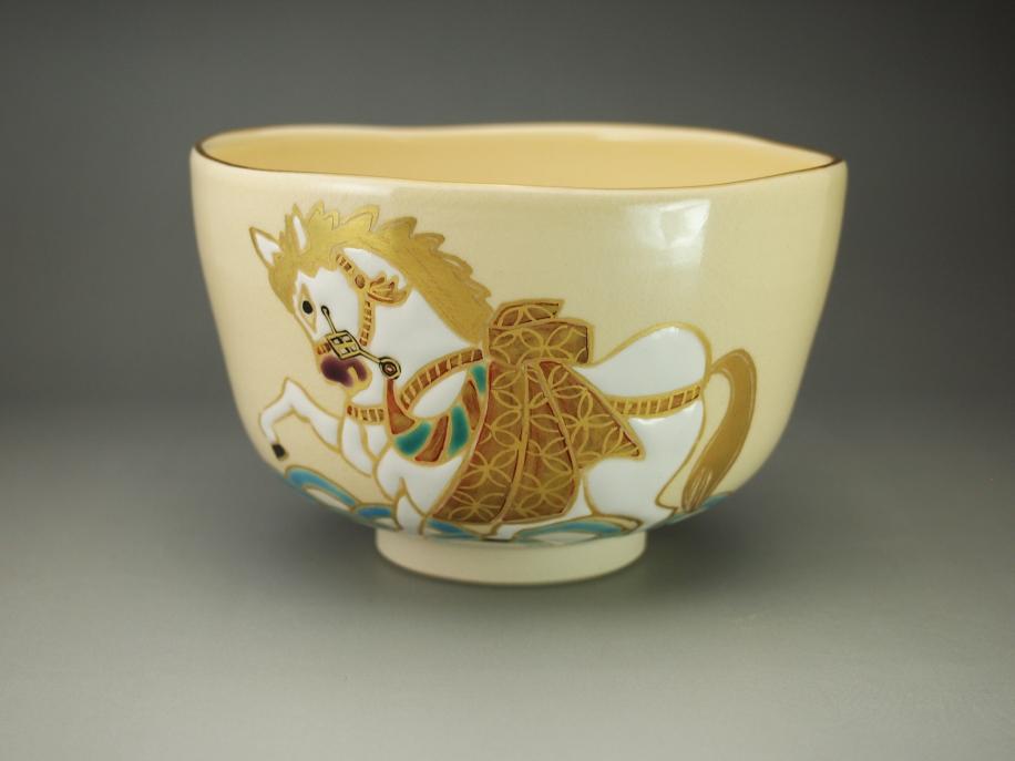 色絵 午 茶碗