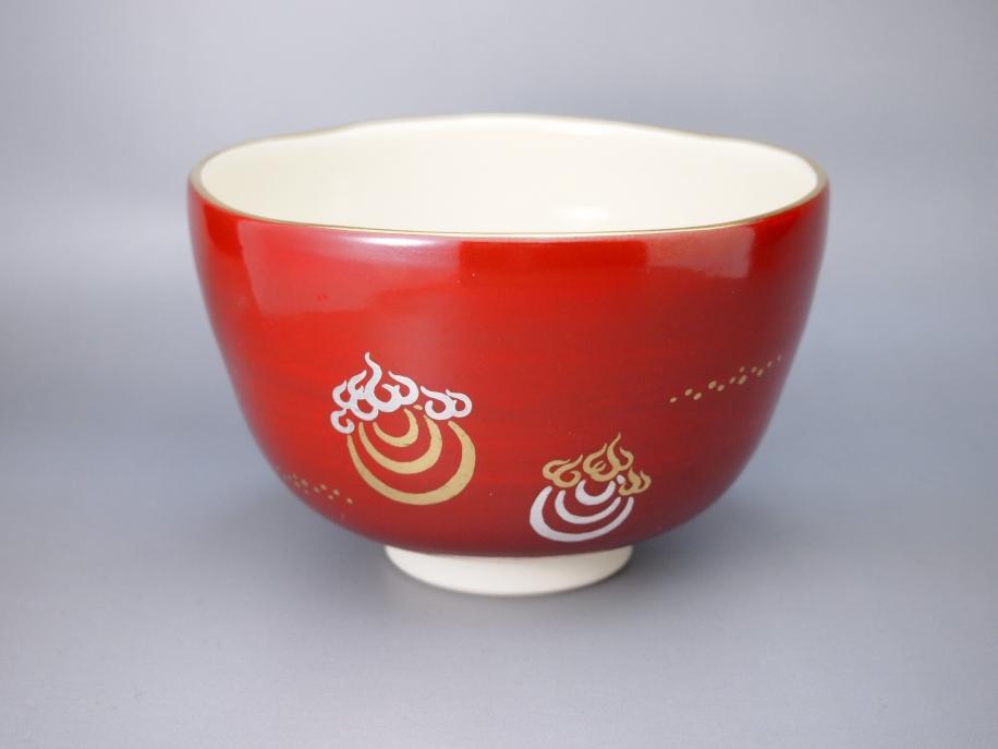 金銀彩 宝珠 茶碗
