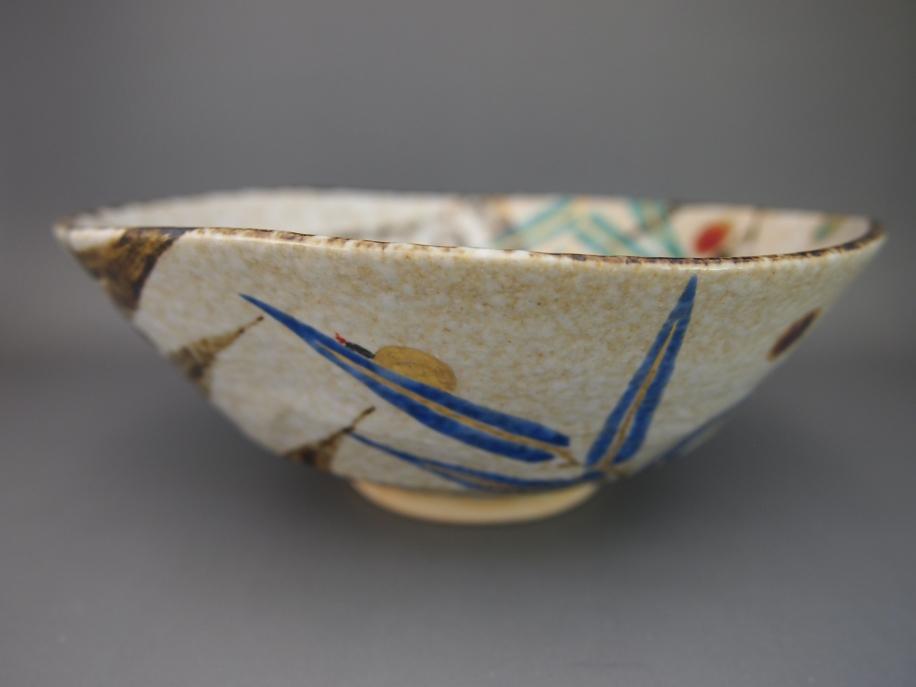 色絵 葦に蛍 茶碗 P1012743