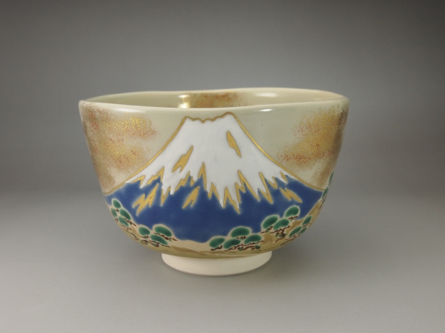 色絵 富士山 茶碗