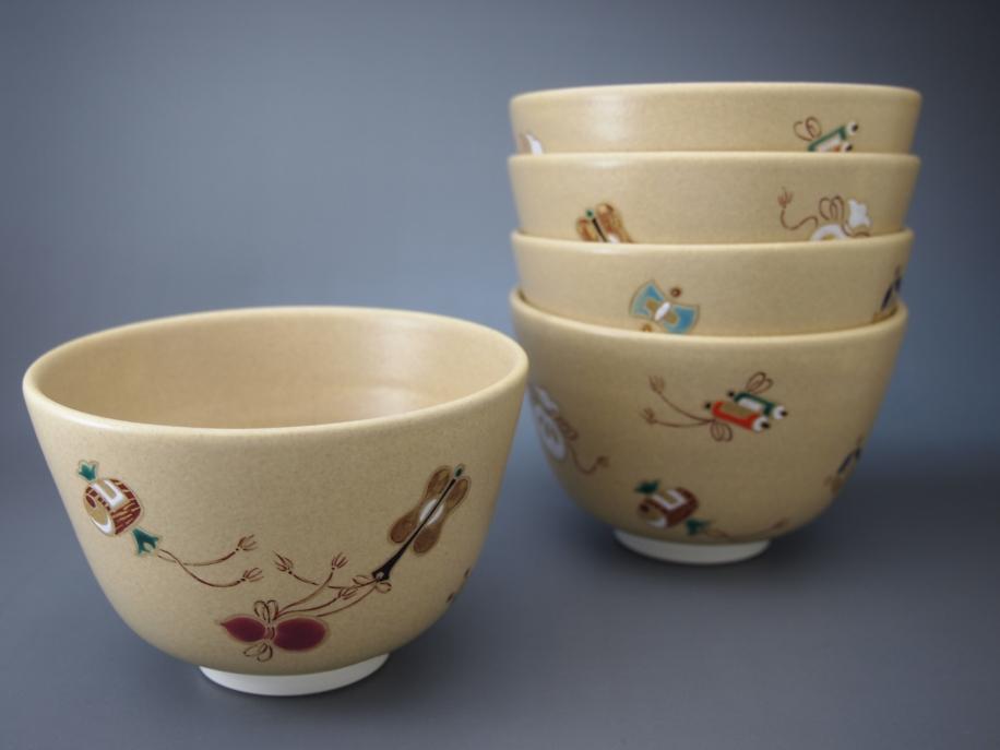 色絵 七宝 茶碗