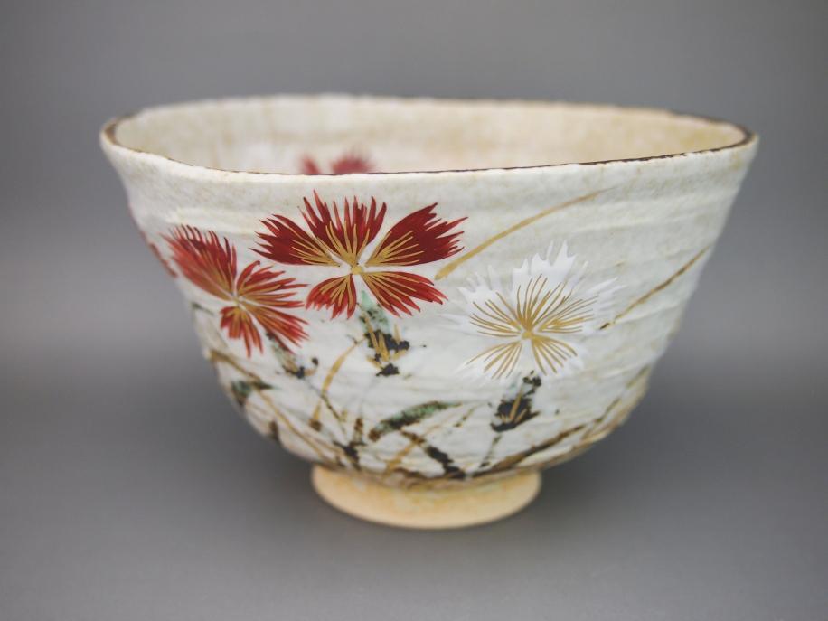 色絵 撫子 茶碗