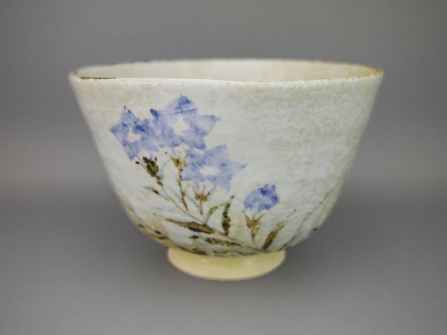 銹絵 桔梗 茶碗