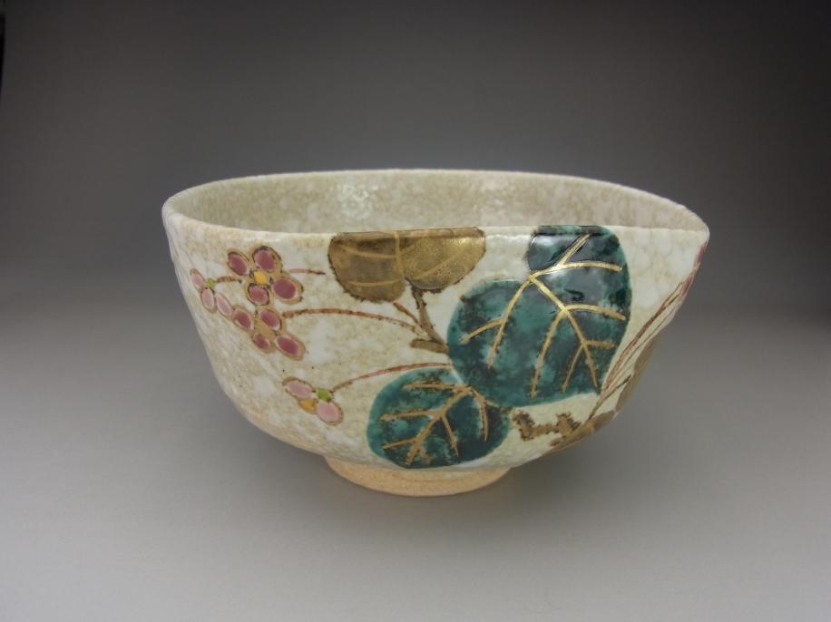 色絵 秋海棠 茶碗