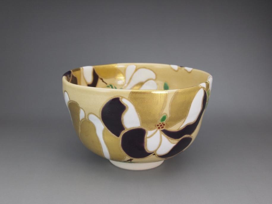 色絵 木蓮 茶碗