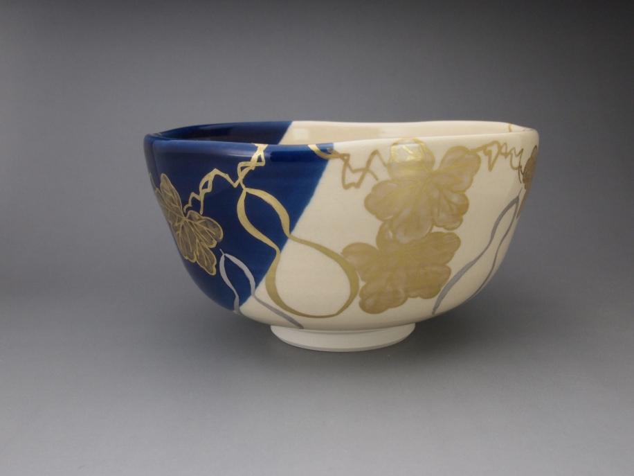 金銀彩 六瓢 茶碗